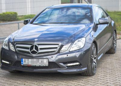 Mercedes E klasa Coupe – korekta One-Step + renowacja skóry