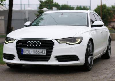 Audi A6 – przyciemnienie lamp folią PPF