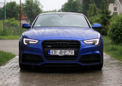 Audi A5 – oklejanie + pełna korekta lakieru + dechroming